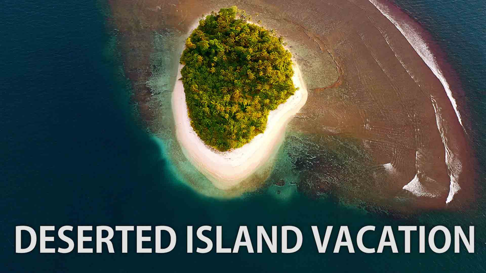One of our deserted island seen from the sky