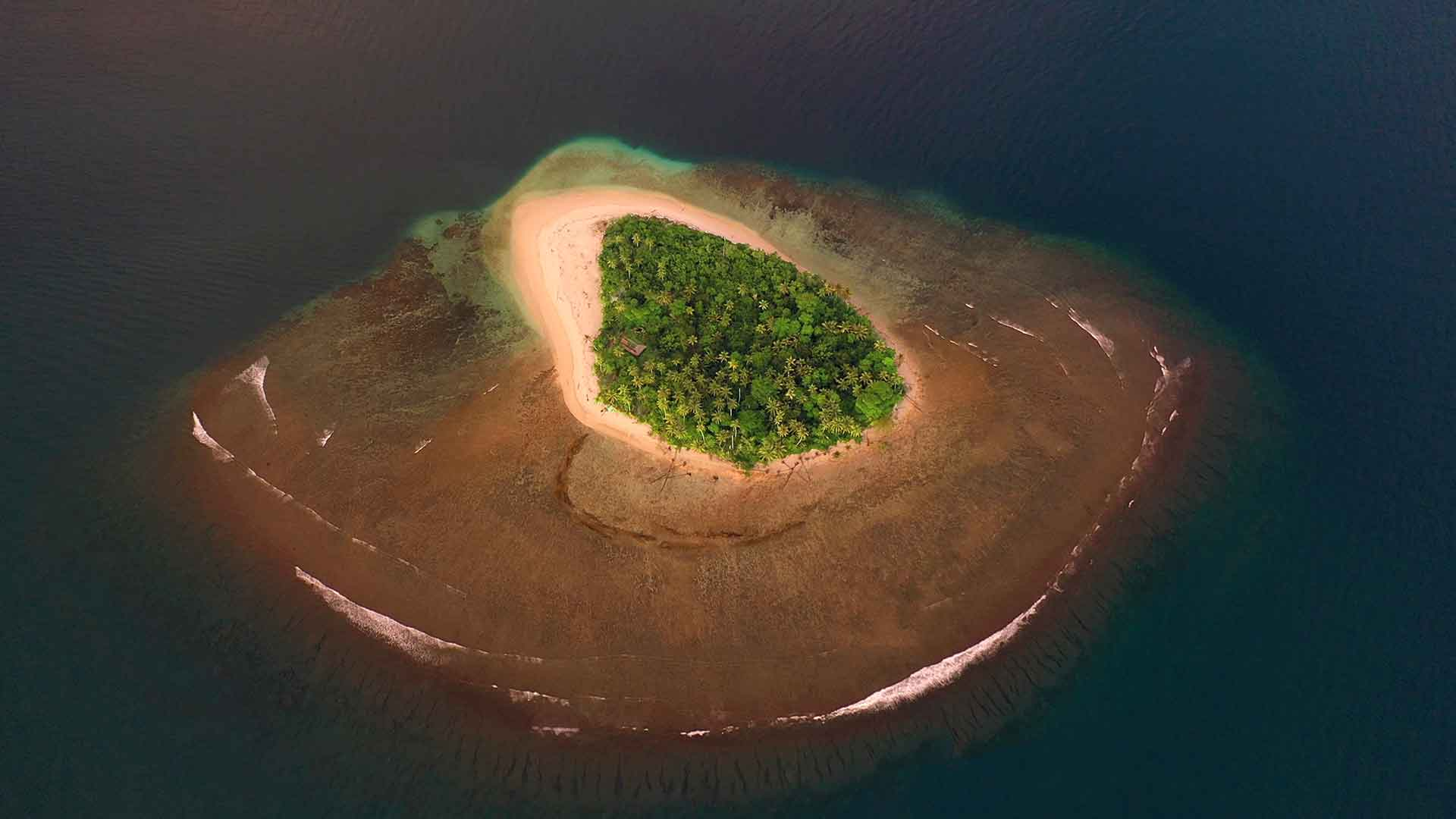 One of our private islands from the sky